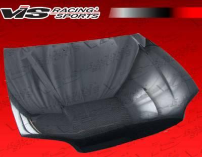 VIS Racing - Honda Civic 2DR VIS Racing OEM Black Carbon Fiber Hood - 92HDCVC2DOE-010C