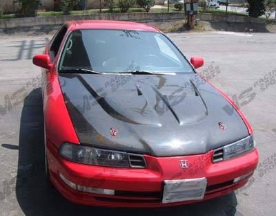 VIS Racing - Honda Prelude VIS Racing Xtreme GT Black Carbon Fiber Hood - 92HDPRE2DGT-010C