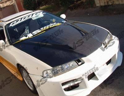 VIS Racing - Honda Prelude VIS Racing Invader Black Carbon Fiber Hood - 92HDPRE2DVS-010C