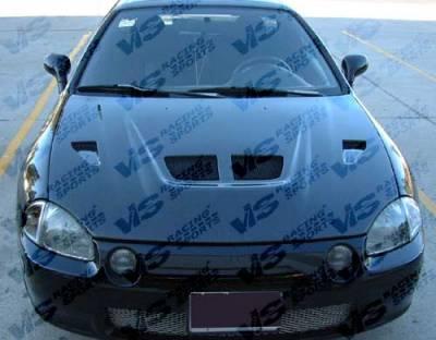 VIS Racing - Honda Del Sol VIS Racing EVO Black Carbon Fiber Hood - 93HDDEL2DEV-010C