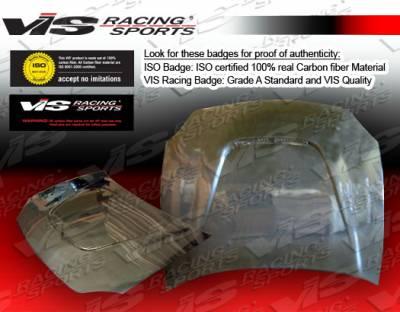 VIS Racing - Honda Del Sol VIS Racing JS Black Carbon Fiber Hood - 93HDDEL2DJS-010C