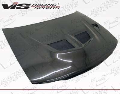 VIS Racing - Mitsubishi Mirage 4DR VIS Racing Evo 5Carbon Fiber Hood - 93MTMIR4DEV5-010C