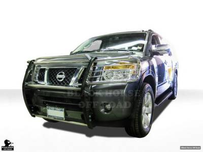 Black Horse - Nissan Armada Black Horse Push Bar Guard