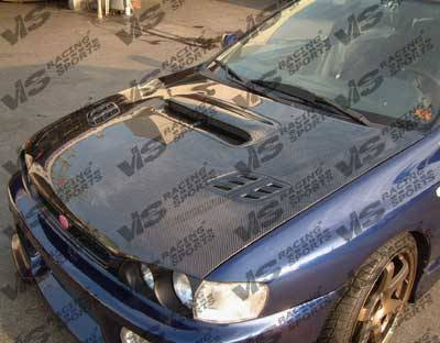 VIS Racing. - Subaru Impreza VIS Racing OEM Black Carbon Fiber Hood with Scoop - 93SBIMP4DOE-010C