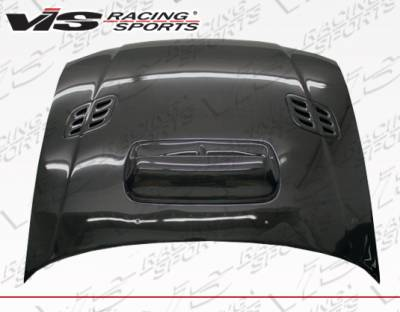 VIS Racing - Subaru Impreza VIS Racing STI Carbon Fiber Hood with Scoop - 93SBIMP4DSTI-010C