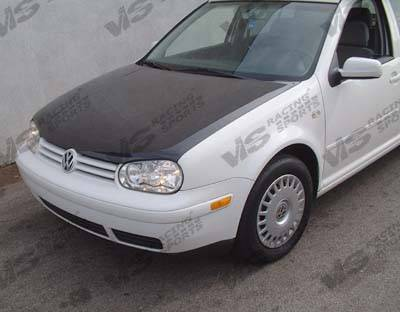 VIS Racing - Volkswagen Jetta VIS Racing OEM Black Carbon Fiber Hood - 93VWJET4DOE-010C
