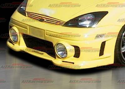 AIT Racing - Ford Focus AIT Racing EVO Style Front Bumper - FF00HIEVO3FBL