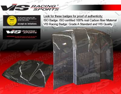 VIS Racing - Chevrolet S10 VIS Racing Cowl Induction Black Carbon Fiber Hood - 94CHS102DCI-010C