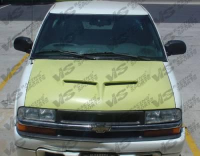 VIS Racing - Chevrolet S10 VIS Racing Fiberglass Outlaw Type 2 Hood - 94CHS102DOL2-010