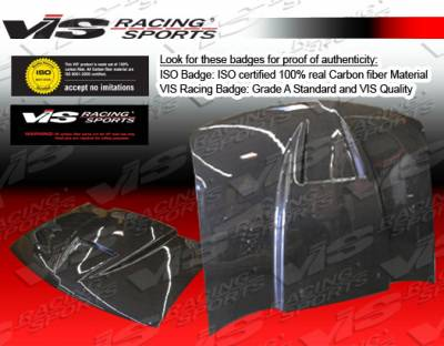 VIS Racing - Chevrolet S10 VIS Racing Ram Air Black Carbon Fiber Hood - 94CHS102DRAM-010C