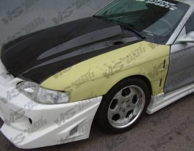 VIS Racing - Ford Mustang VIS Racing Cowl Induction Black Carbon Fiber Hood - 94FDMUS2DCI-010C