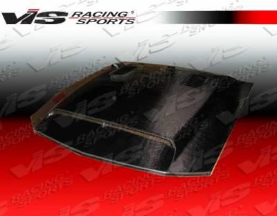 VIS Racing - Ford Mustang VIS Racing GT-500 Black Carbon Fiber Hood - 94FDMUS2DGT5-010C