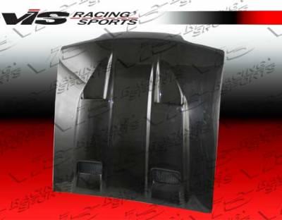 VIS Racing - Ford Mustang VIS Racing Mach-5 Black Carbon Fiber Hood - 94FDMUS2DMK5-010C