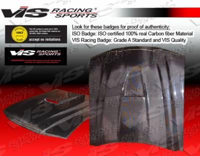 VIS Racing - Ford Mustang VIS Racing SS Black Carbon Fiber Hood - 94FDMUS2DSS-010C