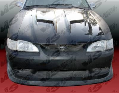 VIS Racing - Ford Mustang VIS Racing Stalker-2 Black Carbon Fiber Hood - 94FDMUS2DSTK2-010C
