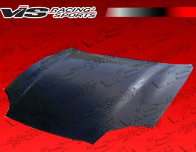 VIS Racing - Mitsubishi 3000GT VIS Racing OEM Black Carbon Fiber Hood - 94MT3K2DOE-010C