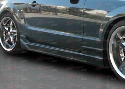 AIT Racing - Ford Mustang AIT Racing Stallion II Style B-Magic Side Skirts - FM05BMSTL2SS