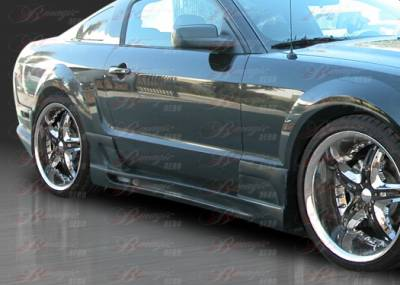 AIT Racing - Ford Mustang AIT Racing Stallion III Style B-Magic Side Skirts - FM05BMSTL3SS