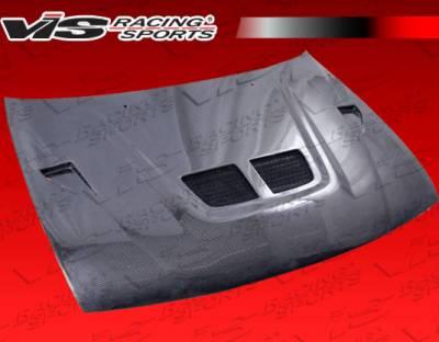 VIS Racing - Nissan Sentra VIS Racing EVO Black Carbon Fiber Hood - 95NS2002DEV-010C