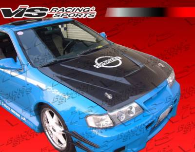 VIS Racing - Nissan Sentra VIS Racing Invader Black Carbon Fiber Hood - 95NS2002DVS-010C