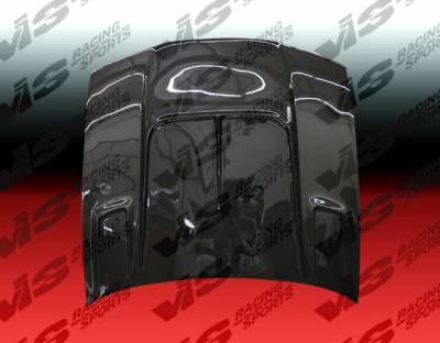 VIS Racing - Nissan 240SX VIS Racing Drift-2 Black Carbon Fiber Hood - 95NS2402DDFT2-010C