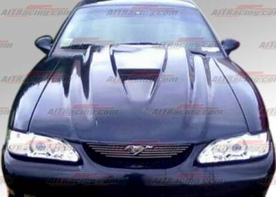 AIT Racing - Ford Mustang AIT Racing Type-2 Style Hood - FM94BMT2FH