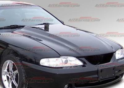AIT Racing - Ford Mustang AIT Racing Type-4 Style Hood - FM94BMT4FH
