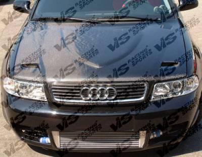 VIS Racing - Audi A4 VIS Racing Euro R Black Carbon Fiber Hood - 96AUA44DEUR-010C