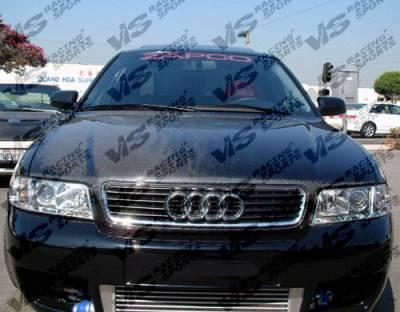 VIS Racing - Audi A4 VIS Racing OEM Black Carbon Fiber Hood - 96AUA44DOE-010C
