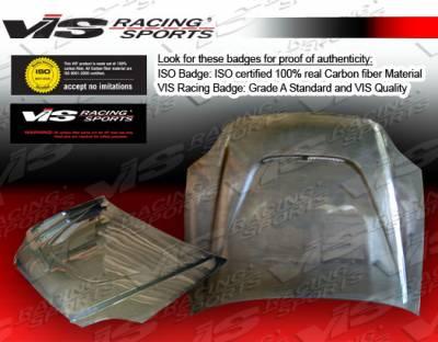 VIS Racing - Honda Civic 2DR & 4DR VIS Racing JS Black Carbon Fiber Hood - 96HDCVC2DJS-010C
