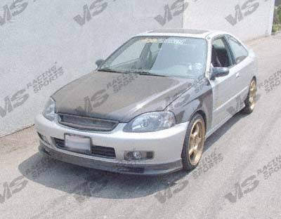 VIS Racing - Honda Civic 2DR & 4DR VIS Racing OEM Black Carbon Fiber Hood - 96HDCVC2DOE-010C