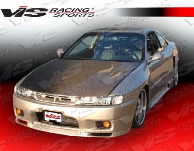 VIS Racing - Honda Civic 2DR & 4DR VIS Racing S14 Black Carbon Fiber Hood - 96HDCVC2DS14-010C
