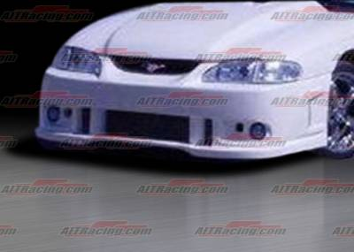 AIT Racing - Ford Mustang AIT Racing SIN-R Style Front Bumper - FM94HISINRFB