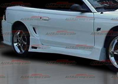 AIT Racing - Ford Mustang AIT Racing SIN Style Side Skirts - FM94HISINSS