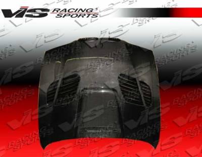 VIS Racing - BMW 5 Series VIS Racing GTR Black Carbon Fiber Hood - 97BME394DGTR-010C