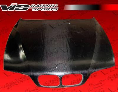 VIS Racing - BMW 5 Series VIS Racing OEM Black Carbon Fiber Hood - 97BME394DOE-010C