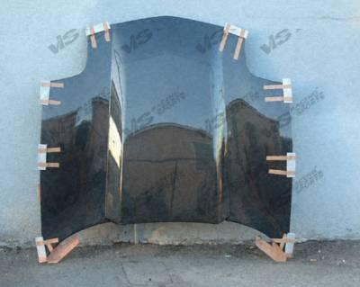 VIS Racing - Chevrolet Corvette VIS Racing Cowl Induction Black Carbon Fiber Hood - 97CHCOR2DCI-010C