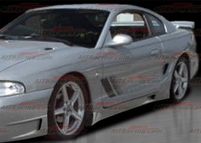 AIT Racing - Ford Mustang AIT Racing Stallion Style Side Skirts - FM94HISTASS