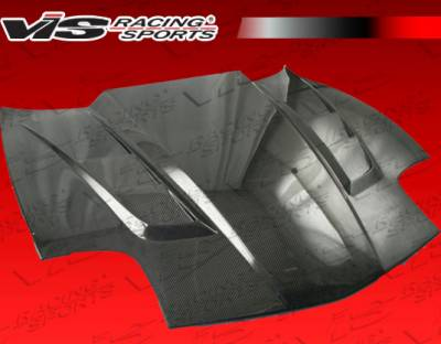 VIS Racing - Chevrolet Corvette VIS Racing SCV Black Carbon Fiber Hood - 97CHCOR2DSCV-010C