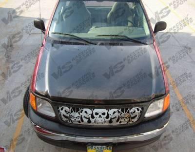VIS Racing - Ford F150 VIS Racing OEM Black Carbon Fiber Hood - 97FDF152DOE-010C