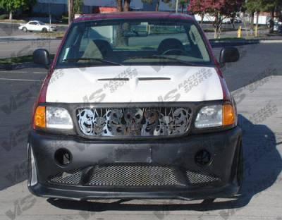 VIS Racing - Ford F150 VIS Racing Fiberglass Outlaw Type 2 Hood - 97FDF152DOL2-010