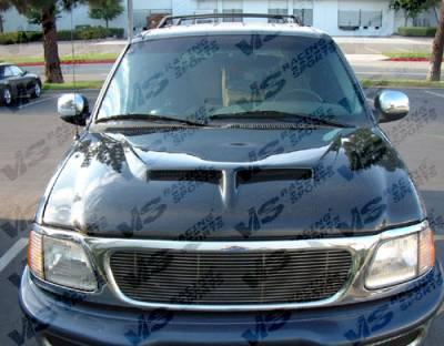 VIS Racing. - Ford F150 VIS Racing Outlaw Type II Fiberglass Hood - 97FDF152DOL2-010C