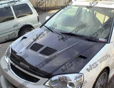 VIS Racing - Honda Prelude VIS Racing EVO Black Carbon Fiber Hood - 97HDPRE2DEV-010C