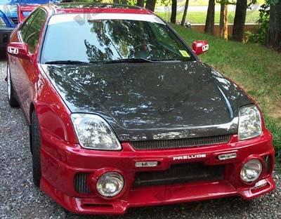 VIS Racing - Honda Prelude VIS Racing OEM Black Carbon Fiber Hood - 97HDPRE2DOE-010C