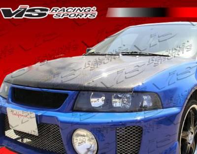 VIS Racing - Mitsubishi Mirage 4DR VIS Racing OEM Black Carbon Fiber Hood - 97MTMIR4DOE-010C