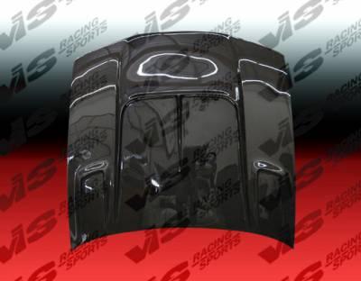 VIS Racing - Nissan 240SX VIS Racing Drift-2 Black Carbon Fiber Hood - 97NS2402DDFT2-010C
