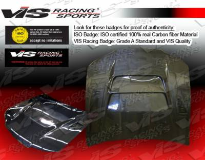 VIS Racing. - Nissan 240SX VIS Racing DV-2 Black Carbon Fiber Hood - 97NS2402DDV2-010C
