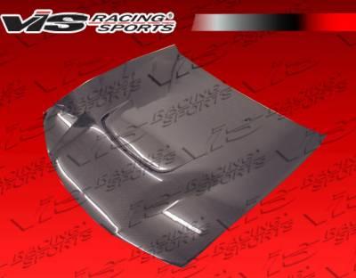 VIS Racing - Nissan 240SX VIS Racing JS Black Carbon Fiber Hood - 97NS2402DJS-010C