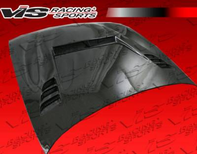 VIS Racing - Nissan 240SX VIS Racing JS 2 Carbon Fiber Hood - 97NS2402DJS2-010C