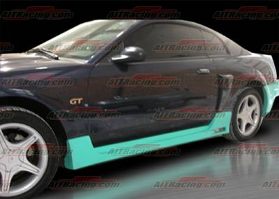 AIT Racing - Ford Mustang AIT Racing SIN Style Side Skirts - FM99HISINSS